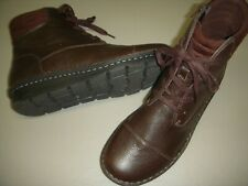 Clarks Collection Michela Fold Leather Lace-Up Ankle Boots Women 12 W Dk. Brown