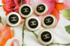 100% Chanel buttons lot 6 black& white   cc logo 21 mm 0,8 inch 💔💔💔