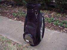 "Golf Pak 9"" Black Canvas Cart Golf Bag w Rain Hood"