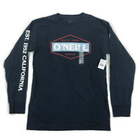 O'Neill Mens Graphic T Shirt Long Sleeve Navy Blue Variety Sizes