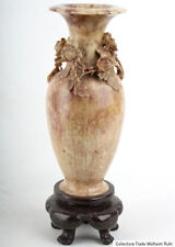 La Chine 19. siècle, Bacon pierre-a Chinese soapstone AMPHORA vase-occlusives cinese chinois