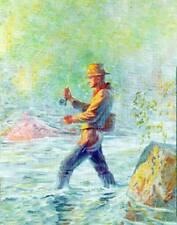 Fly Fishing Fisherman old art