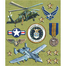 K&COMPANY STICKER MEDLEY USA MILITARY AIR FORCE DIMENSIONAL SCRAPBOOK STICKERS