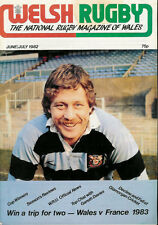 Welsh Rugby mag juin / juillet 1982, Ella frères, sept sœurs, moisissure, Llantrisant
