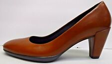 Ecco Size EUR 37 US 6 6.5 Brown Leather Pumps New Womens Shoes