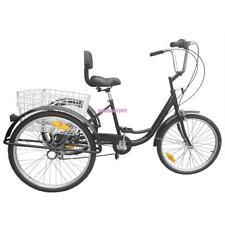 Aufgerüstete Version 24 Zoll Dreirad für Erwachsene,Senioren Shopping Fahrrad