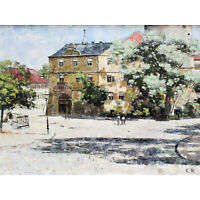 Rohlfs Burgplatz Weimar Painting XL Canvas Art Print