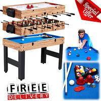 "Multi Table Game 48"" Billiard Hockey Foosball Top Child Kid Fun Playroom Lot"