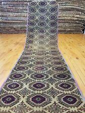 """Beautiful Vintage 1950-1960s Wool Pile 2'2""""x7'8"""" Sage Green Bunyan Runner Rug"""