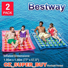 Bestway H2OGo Double Drifter Inflatable Mattress Pool & Beach Float Twin Pack