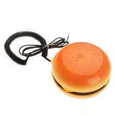 Hamburger Telephone Cheeseburger Burger Home Desktop Corded Phone Gifts