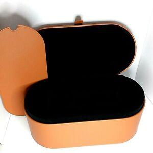 Genuine DYSON Leather AIRWRAP Styler w/ Heat Mat Tan Storage Hard Case Brown