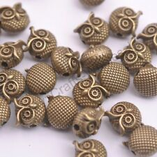 5 to 100Pcs Antique Tibetan Silver Owl Charms Spacer Beads for Bracelets D3149