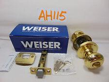 Weiser Lock GA331 T3 B RLR1 Weiser Bright Brass Troy Privacy Door Knob New