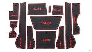 SKODA KAMIQ INTERIOR DASHBOARD MAT GATE PADS - RED