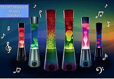~❤️~LAVA LAMP Rainbow Pink Blue Bluetooth SPEAKER Motion Night Light AUX Cord❤️