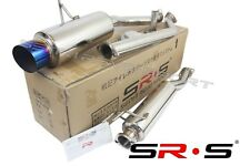 SR*S T-304 Stainless Steel Catback EXHAUST 02 03 04 05 06 RSX TYPE-S BURNT TIP
