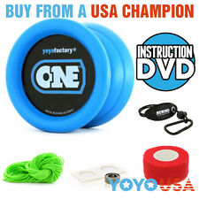 [Yo-Yo Set] YoYoFactory ONE Starter Pack - Blue - String, Holder, DVD, etc.