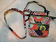 "Vera Bradley Multi Crossbody Shoulder Bag Purse Wallet small  8"" x 6.5"""
