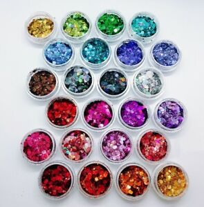 Holographic Chunky Glitter 24 Colors Cosmetic Grade Polyester Glitter