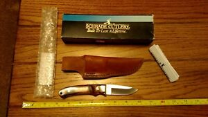 Vintage Schrade Old Timer USA PH2EM Mini Pro Hunter Carbon w/Leather Sheath