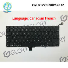 """Genuine Canadian French Keyboard For Macbook Pro 13"""" Unibody A1278 Mid 2009-2012"""