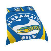 Parramatta Eels NRL QUEEN Bed Quilt Doona Duvet Cover Set *NEW 2018* GIFT