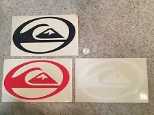 Quiksilver Die Cut Team Sticker Collection Lot of 3 - Authentic - GREAT