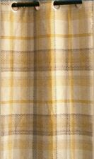 "Next Door Ochre Dalton Check Eyelet Curtain 90x90""(228x229"