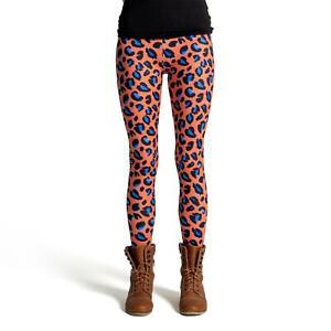 cosey – bedruckte bunte Leggings Leggins (Einheitsgröße) – Leoparden-Muster 1