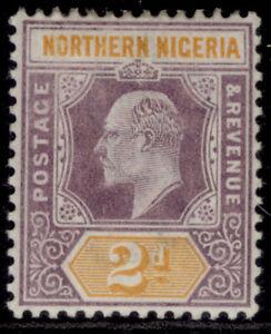 NORTHERN NIGERIA EDVII SG12, 2d dull purple & yellow, M MINT.