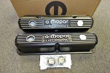 Mopar Performance 318,340,360 Small Block Black Cast Aluminum Valve Covers.