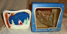 RARE Vintage GURLEY Novelty Company Christmas Glow Candle in Original Box LOOK !