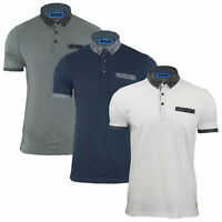 Mens Polo Shirt By Designer Brave Soul Cotton Collared Short Sleeve Top S-XL