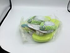 Lindsay Phillips SwitchFlops Lulu Size 8 Interchangeable Flip Flop Neon Green