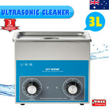 3L Ultrasonic Cleaner Sonic Wave Tank Jewellery Ring Watch Cleaning Timer Heater