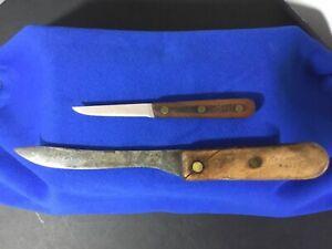 2 Vintage Knives. Chicago Cutlery C102 Paring Knife. Remington K4307 Butcher Kni