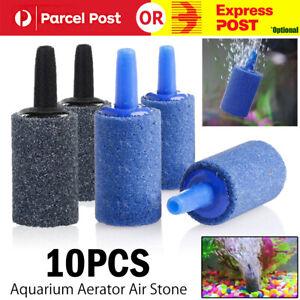 10Pcs Aquarium Fish Tank Aerator Air Stone Diffuser Oxygen Bubbles Pump 2Color