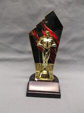 achievement trophy award red gold stripe backdrop black base Free Lettering