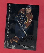 RARE 1999-00 ITG # 15 COLUMBUS ANDREW BRUNETTE AUTHOGRAPH CARD
