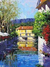 BARBARA McCANN L'isle Sur La Sorgue on Canvas #129/200 Sold Out COA