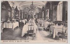 CARTOLINA GRAND HOTEL & MILAN RESTURANT SALLE A MANGER RIF. 506/C