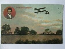 Brooklands postcard.Brooklands aeroplane postcards.flying postcards.