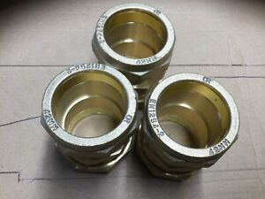 3 X 42 Mm Straight  Brass Compression Fittings.