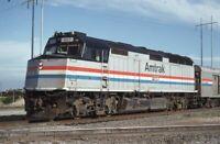 AMTRAK Railroad Train Locomotive 407 FT WORTH TX Original 1993 Photo Slide