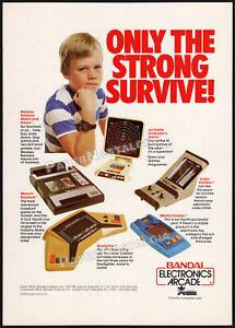 BANDAI ELECTRONICS ARCADE__Orig. 1982 Trade AD / poster__Gunfighter__Air Traffic