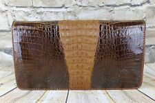 Vintage 1960s  Genuine Hornback Crocodile Alligator Skin Shoulder Clutch Bag
