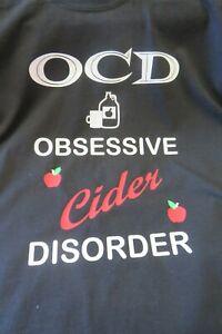 OCD fun T-shirt - Obsessive Cider Disorder