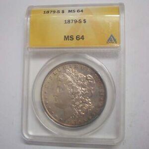 1879-S $1 Silver Morgan Dollar Graded by ANACS as MS-64! Gorgeous Morgan!