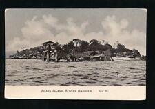 Australia SYDNEY Harbour Shark Island c1910/30s? RP PPC H&B #20